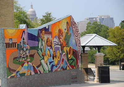 East Austin mural in front of the state capital